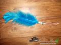 Blauwe veer hanger
